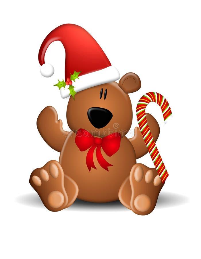Kerstmis van de teddybeer royalty-vrije illustratie