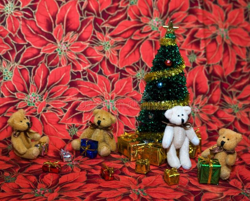 Kerstmis van de teddybeer royalty-vrije stock fotografie