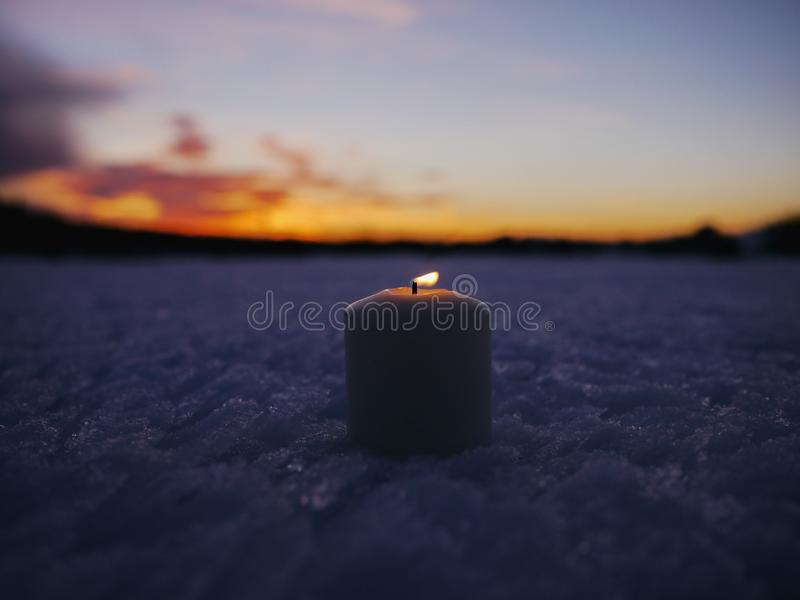 Kerstmis van de de winterkaars stock afbeeldingen