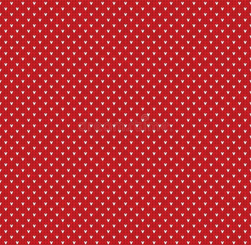 Kerstmis van de winterkerstmis breide naadloos abstract patroon als achtergrond met punten vector illustratie