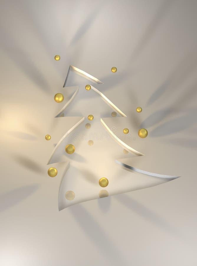 Kerstmis van Goldent vector illustratie