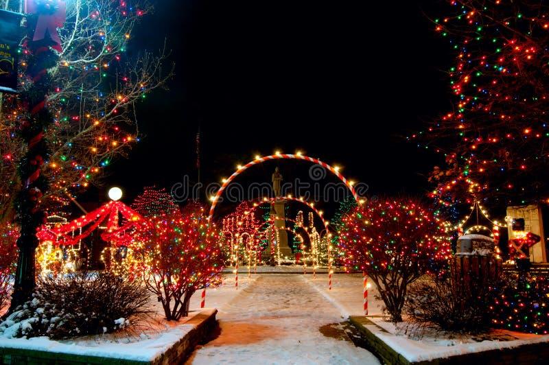 Kerstmis van het dorp royalty-vrije stock afbeelding