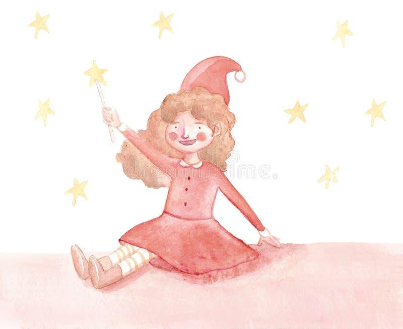 Kerstmis van het meisje stock fotografie