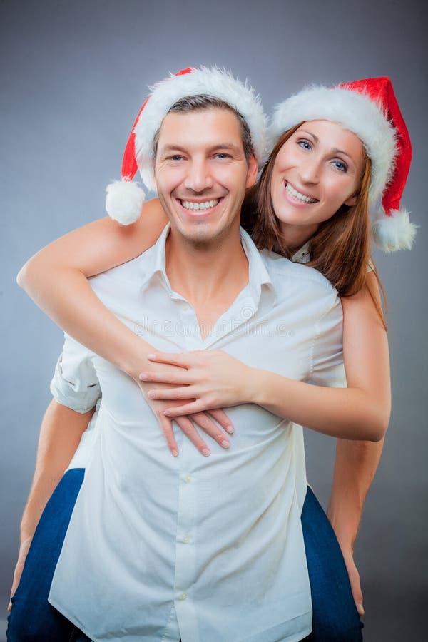 Kerstmis van het paar royalty-vrije stock afbeelding