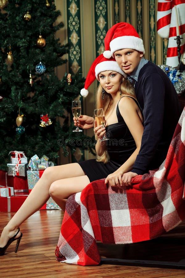 Kerstmis van het paar stock fotografie