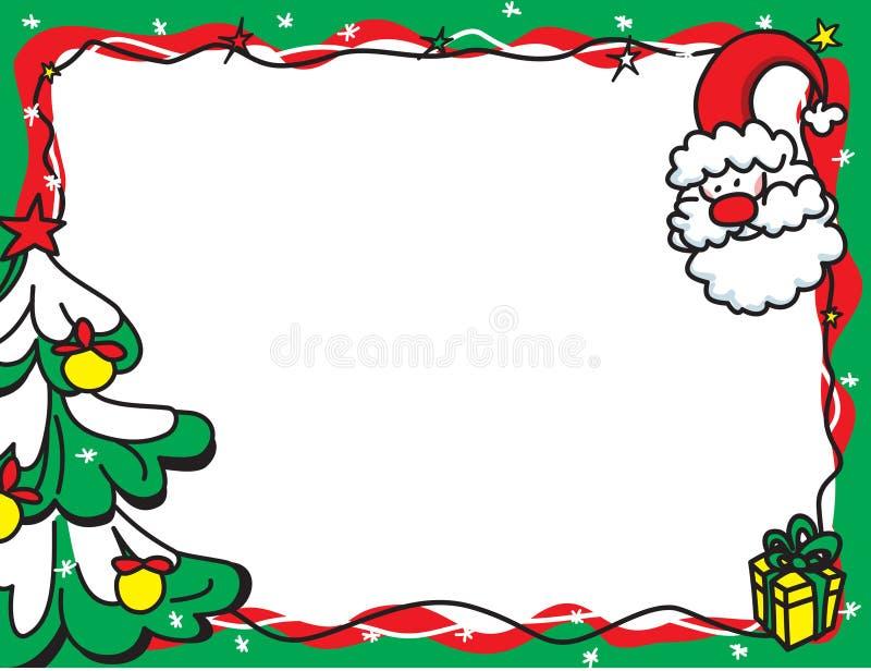 Kerstmis van Photoframe vector illustratie