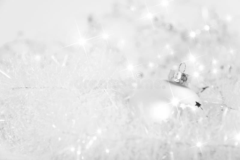 Kerstmis van wit royalty-vrije stock afbeeldingen