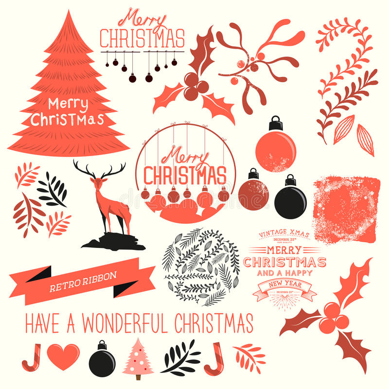 Kerstmis Vectorinzameling stock illustratie