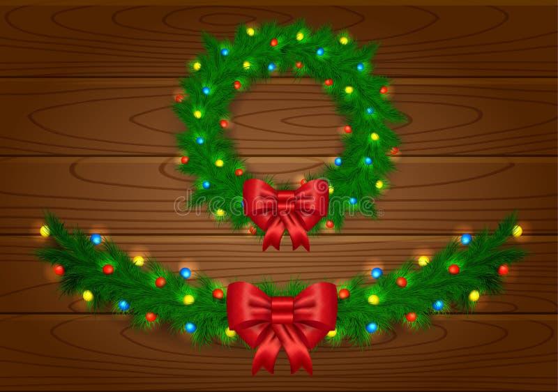 Kerstmis vectorslinger stock illustratie