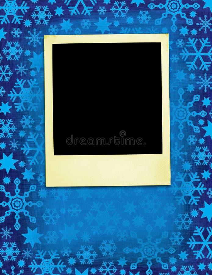 Kerstmis Verouderde Polaroidcamera royalty-vrije stock foto's