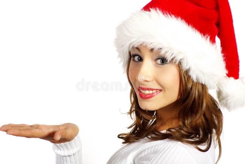 Kerstmis vrouw stock afbeeldingen