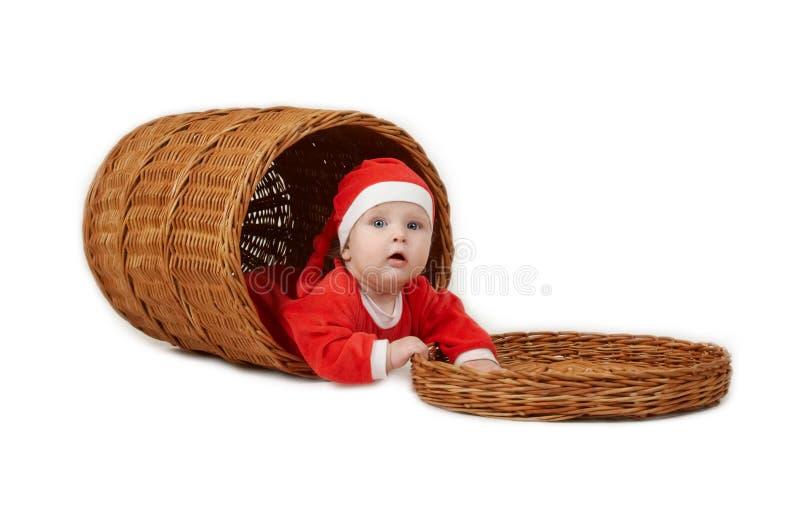 Kerstmis weinig jongen royalty-vrije stock afbeeldingen