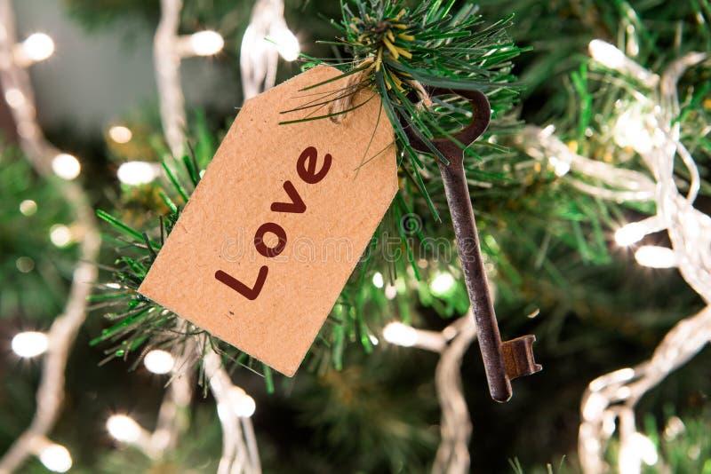 Kerstmis wenst concept - sluit met inschrijving op markering stock foto's