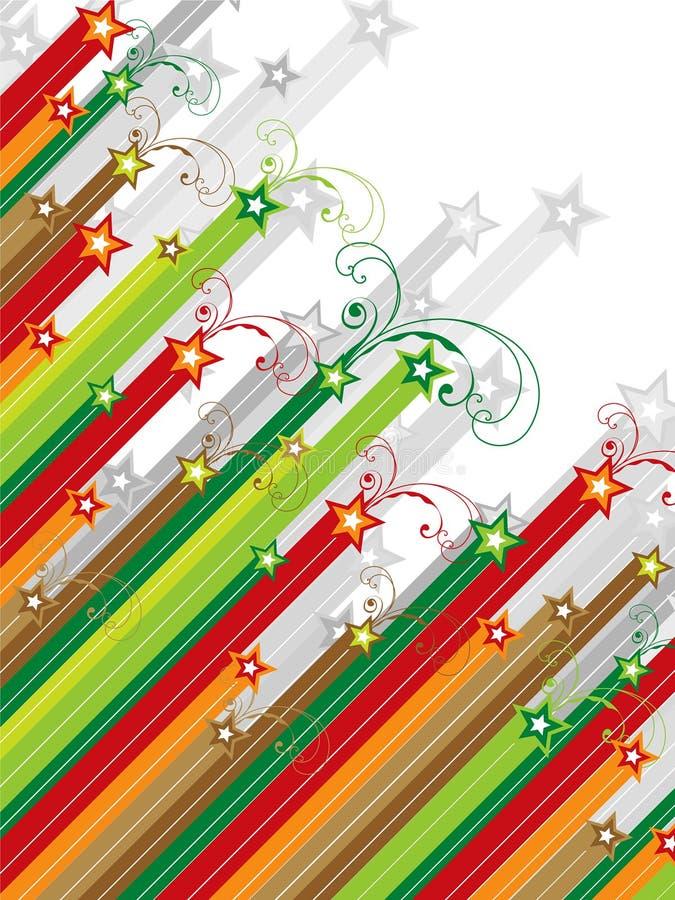 Kerstmis wervelt vallend sterren stock illustratie