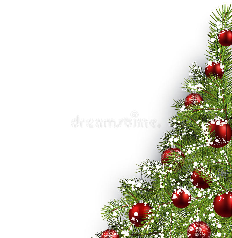Kerstmis witte achtergrond royalty-vrije illustratie