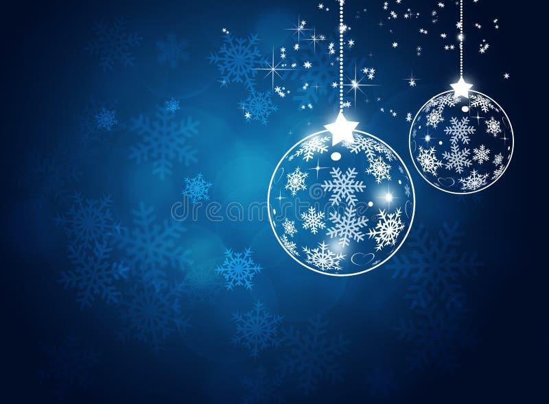 Kerstmis Witte Bal royalty-vrije illustratie