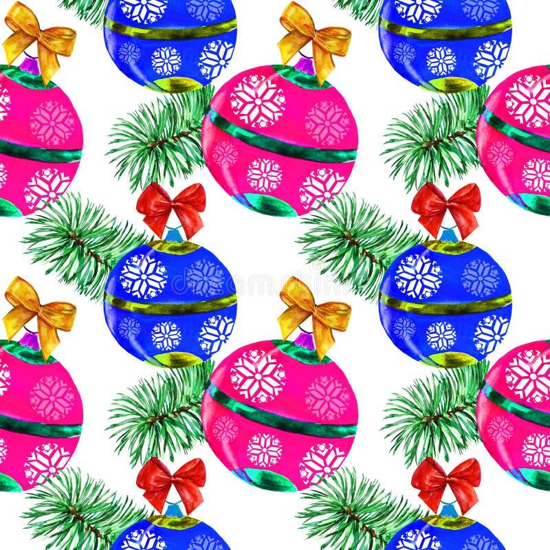 Kerstmis witte waterverf als achtergrond royalty-vrije illustratie