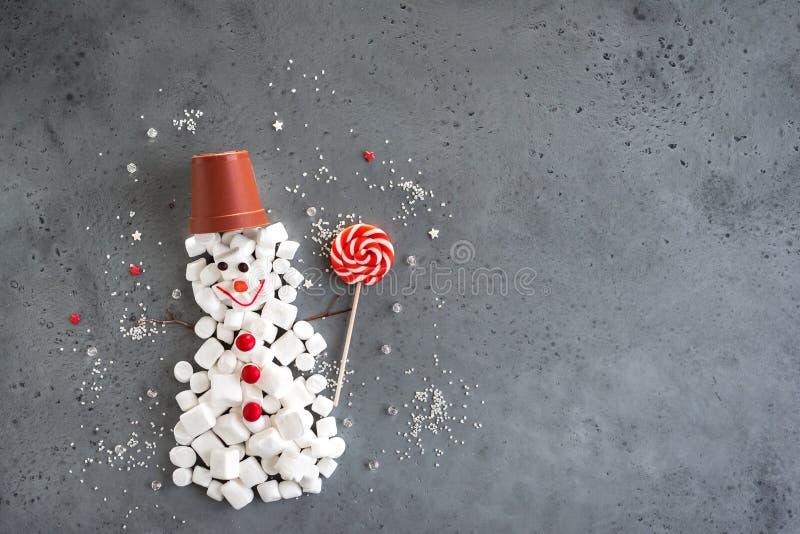 Kerstmis Zoete Sneeuwman stock afbeelding