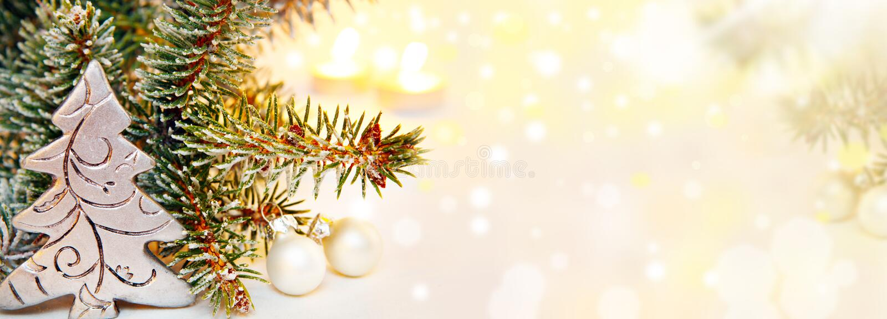 Kerstmisachtergrond, Banner royalty-vrije stock fotografie