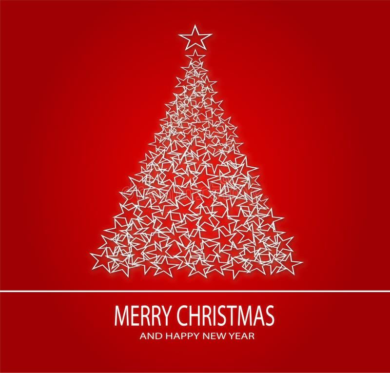 Kerstmisachtergrond en Gelukkig Nieuwjaar stock illustratie