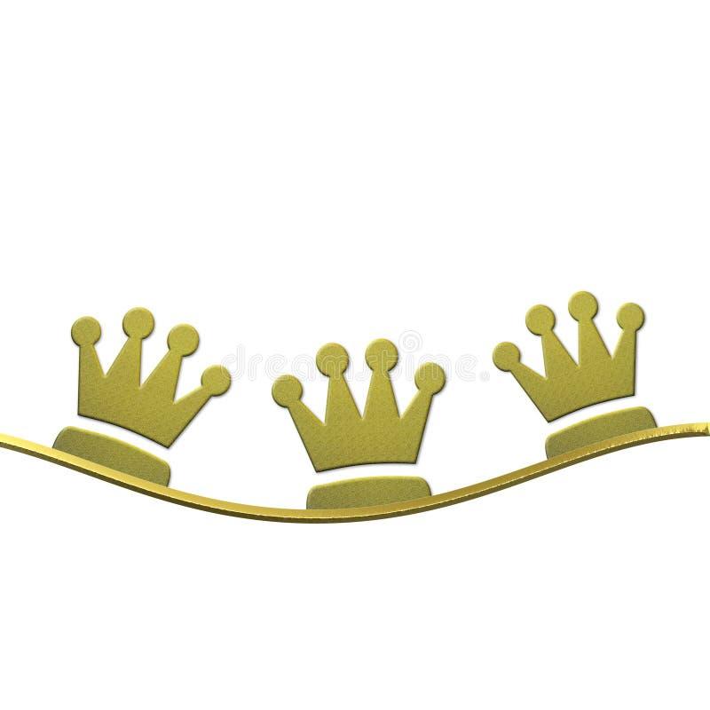 Kerstmisachtergrond, kronen van de Drie wijzen stock illustratie