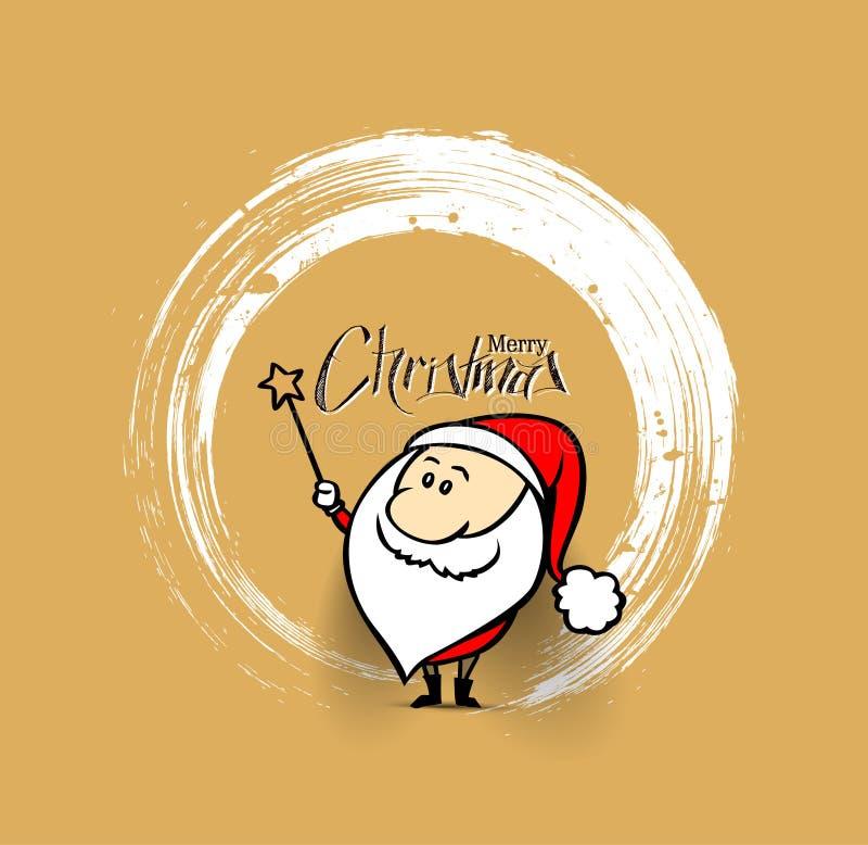 Kerstmisachtergrond magische Santa Claus vector illustratie