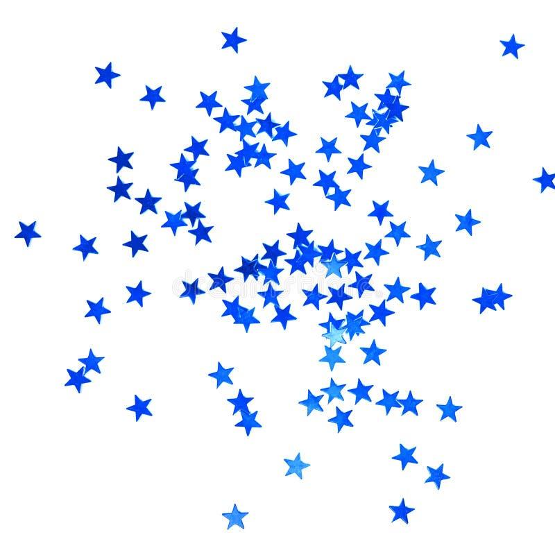 Kerstmisachtergrond met blauwe sterren stock foto