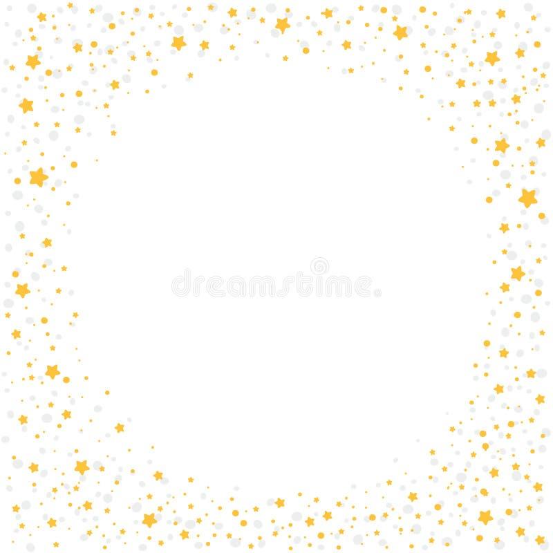 Kerstmisachtergrond met gele sterren vector illustratie