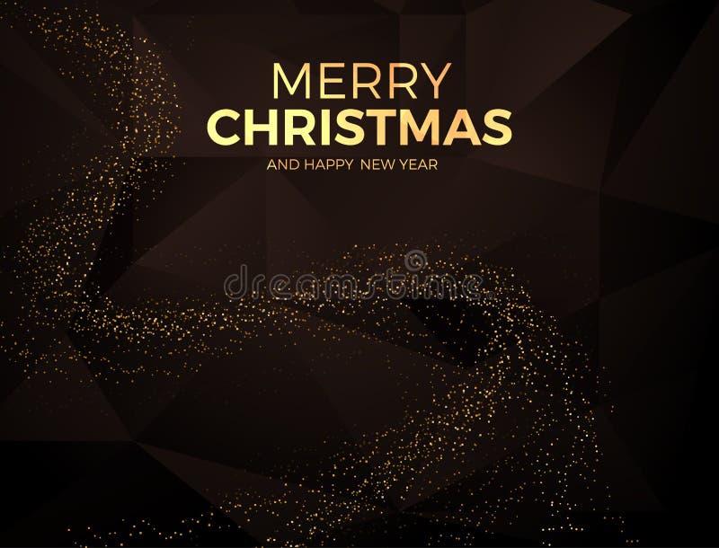 Kerstmisachtergrond met gouden magische ster Vector illustratie vector illustratie