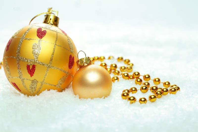 Kerstmisachtergrond met Kerstmisballen royalty-vrije stock afbeelding