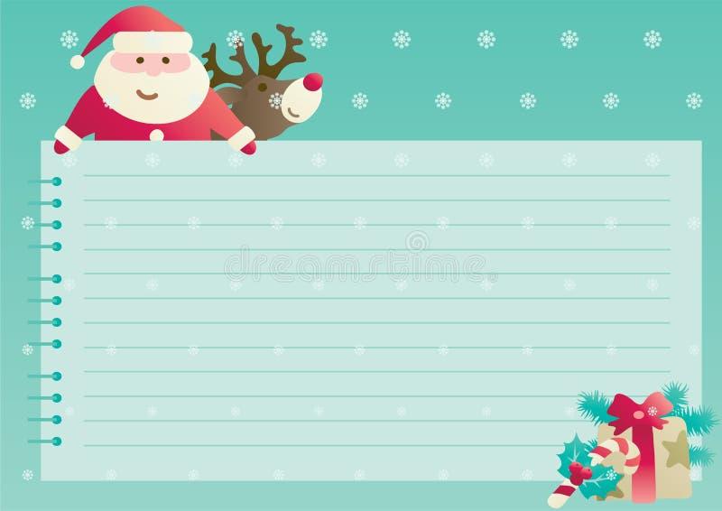 Kerstmisachtergrond met lege spatie voor tekst royalty-vrije illustratie