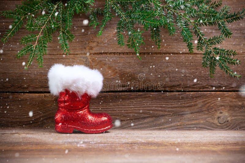 Kerstmisachtergrond met santaslaars stock fotografie