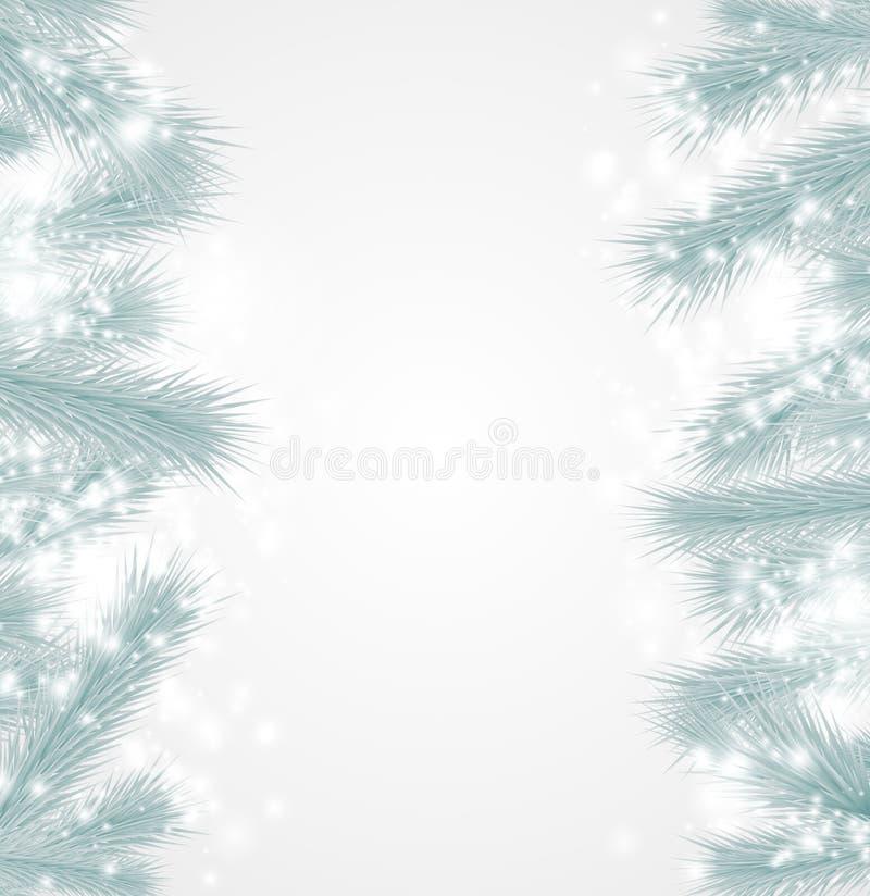 Kerstmisachtergrond met spartakken royalty-vrije stock afbeeldingen