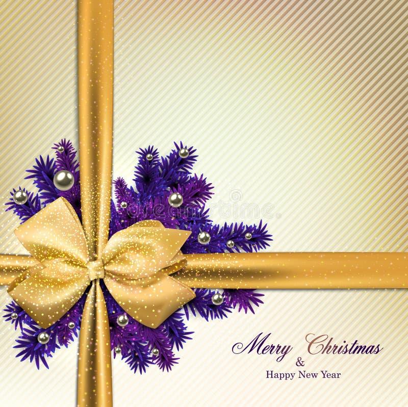 Kerstmisachtergrond met spartakken royalty-vrije illustratie