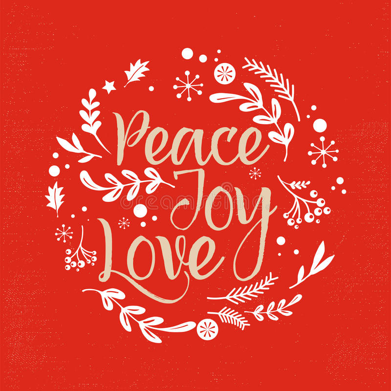 Kerstmisachtergrond met Typografie, het Van letters voorzien vector illustratie