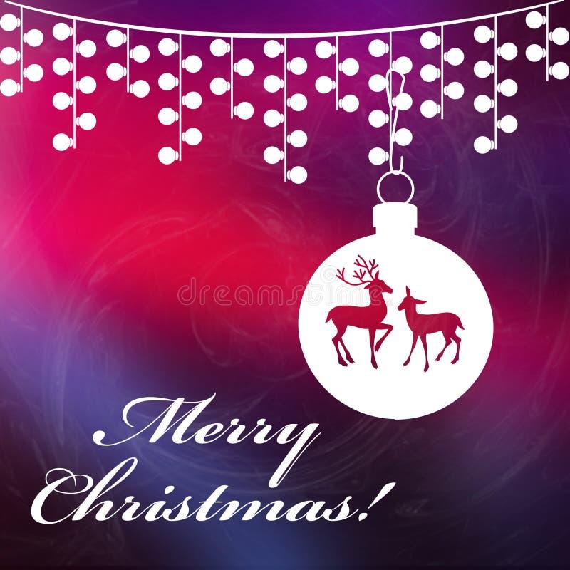 Kerstmisachtergrond met Vrolijke Kerstmisteksten royalty-vrije stock afbeelding