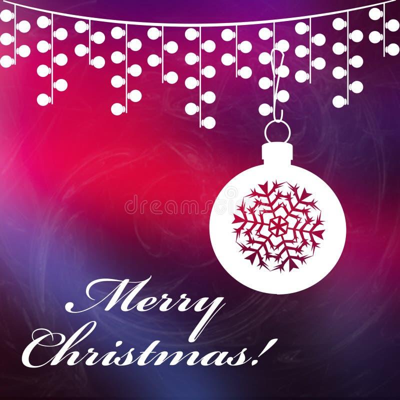 Kerstmisachtergrond met Vrolijke Kerstmisteksten stock foto's