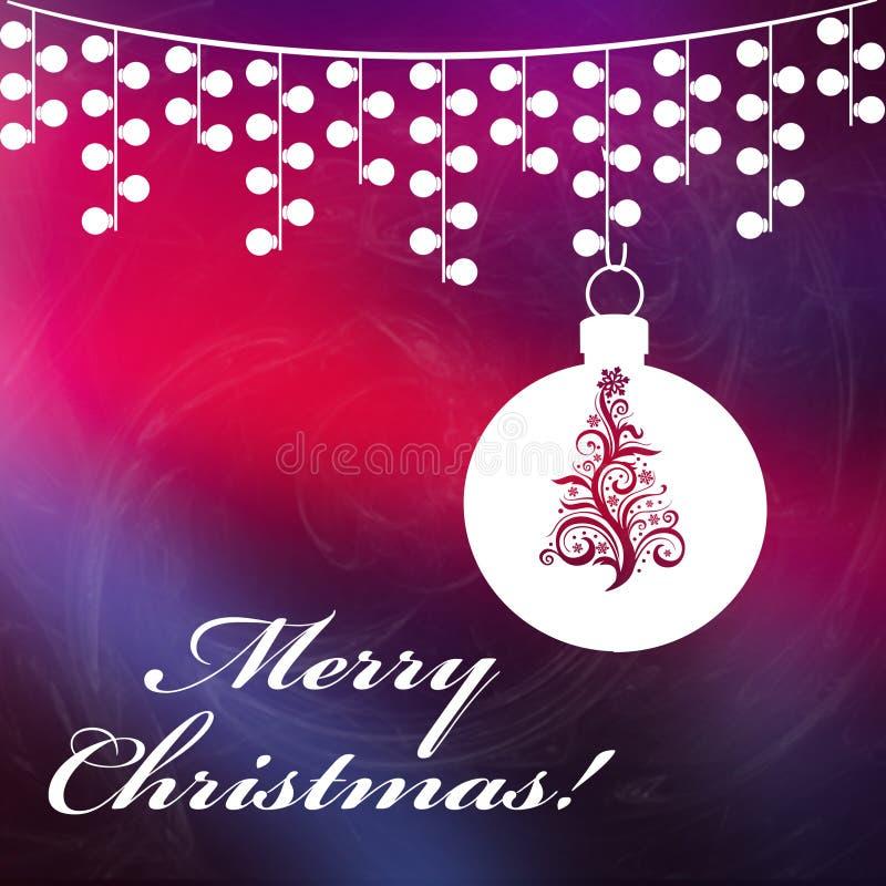 Kerstmisachtergrond met Vrolijke Kerstmisteksten royalty-vrije stock foto's