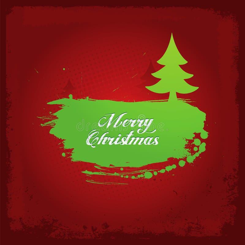 Kerstmisachtergrond van Grunge vector illustratie