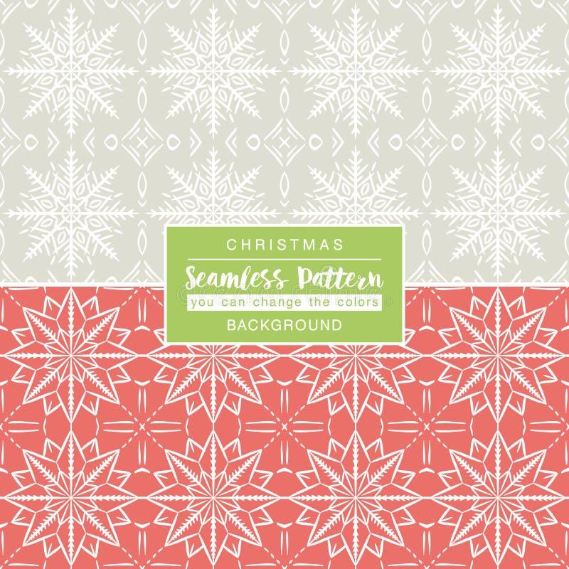 Kerstmisachtergronden met naadloze patronen Ideaal voor druk stock illustratie