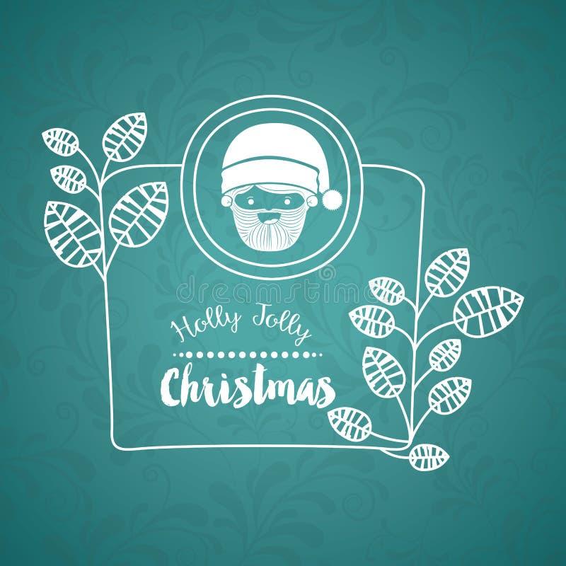 Kerstmisaffiche met pictogramontwerp stock illustratie