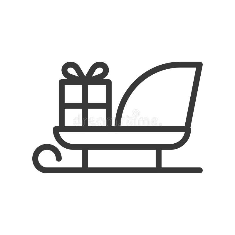Kerstmisar, de Vrolijke reeks van het Kerstmispictogram, edita van het overzichtsontwerp royalty-vrije illustratie