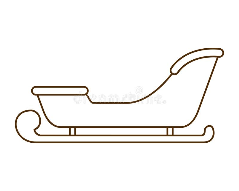 Kerstmisar geïsoleerd pictogram vector illustratie