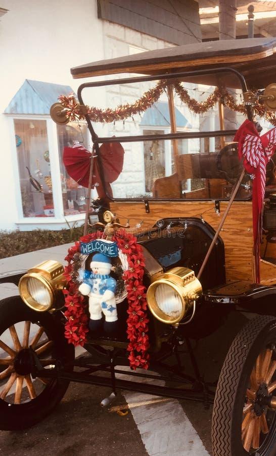 Kerstmisauto royalty-vrije stock fotografie