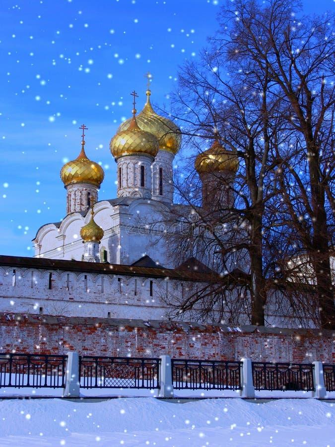 Kerstmisavond van de winter stock fotografie