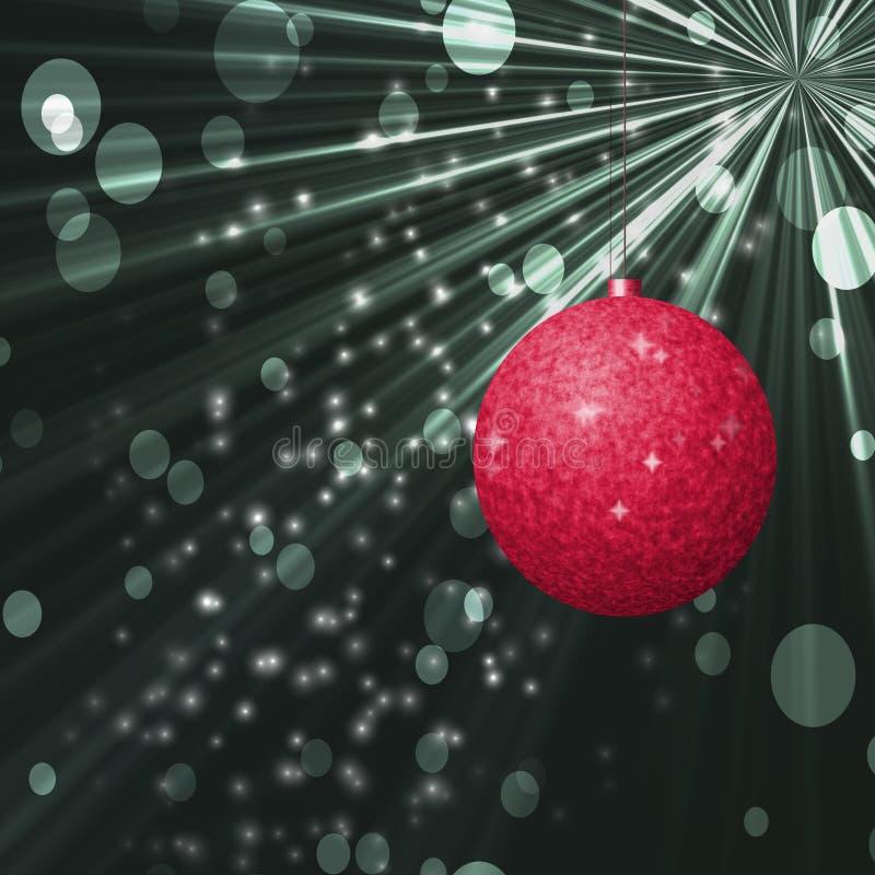 Kerstmisbal met backroundtextuur stock illustratie