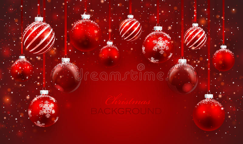 Kerstmisballen stock illustratie