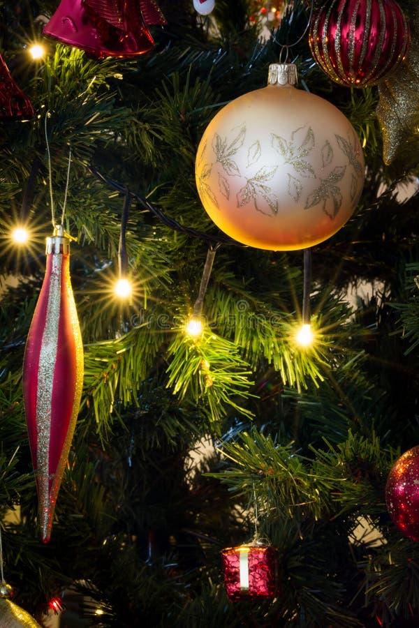 Kerstmisballen royalty-vrije stock foto's