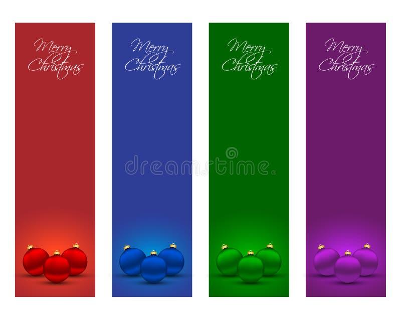 Kerstmisbanners vector illustratie