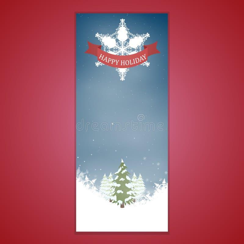 Kerstmisbanners met typeontwerp royalty-vrije illustratie